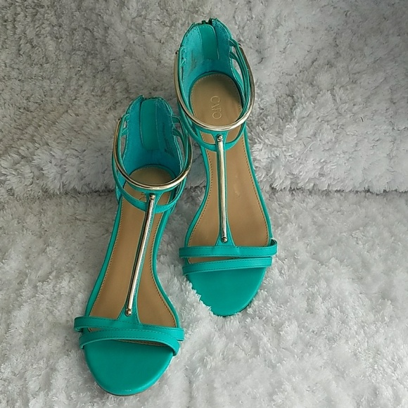 17bed5fc8 Cato Shoes - 🌴Like New🌴Cato Ankle Strap Metal Trim Heels